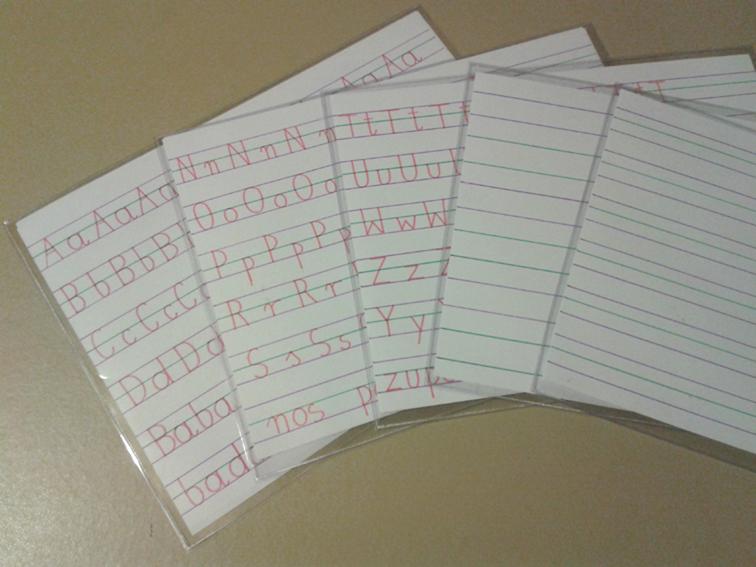 Plansze do nauki pisania dla dzieci niedowidzących i słabowidzących 2