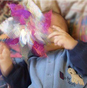 Błyszczący wiatrak - doskonałą zabawa dla niemowląt