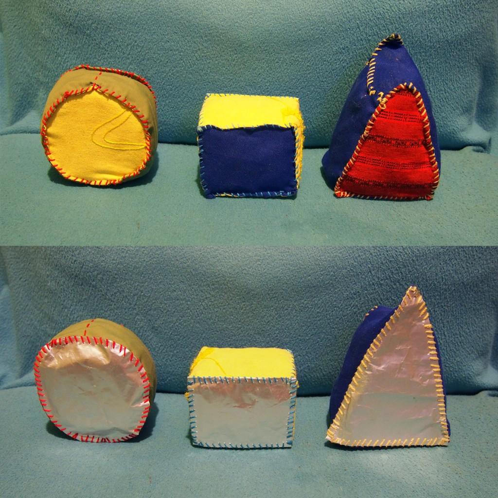 Rzutki – kształty geometryczne, sensorki zapachowe FolkSmolk - strona kontrastowa i błyszcząca - mamotatopokzami.pl
